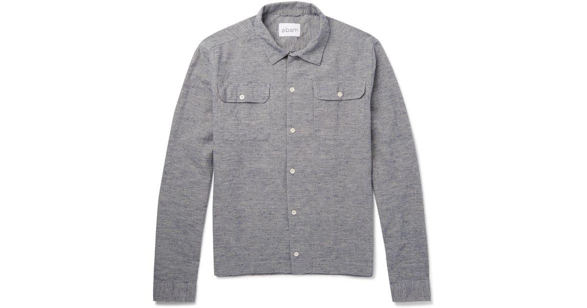 Cheap Lowest Price Slub Cotton And Linen-blend Shirt Albam Clearance Footlocker Pictures 2018 Online ownT1P36eu