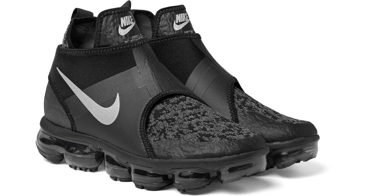 e78f5ce3280 Nike Air Vapormax Chukka Slip Mesh And Neoprene Sneakers in Black ...