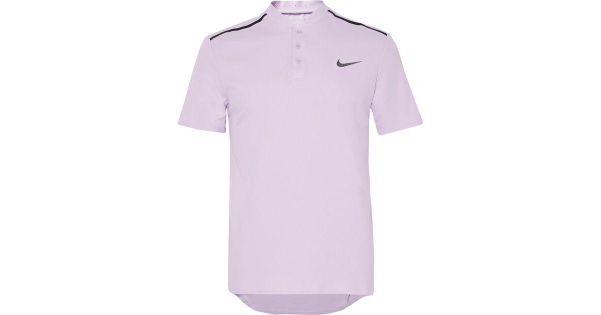 6554a5f31 Nike Nikecourt Roger Federer Advantage Dri-fit Piqué Tennis Polo Shirt in  Purple for Men - Lyst
