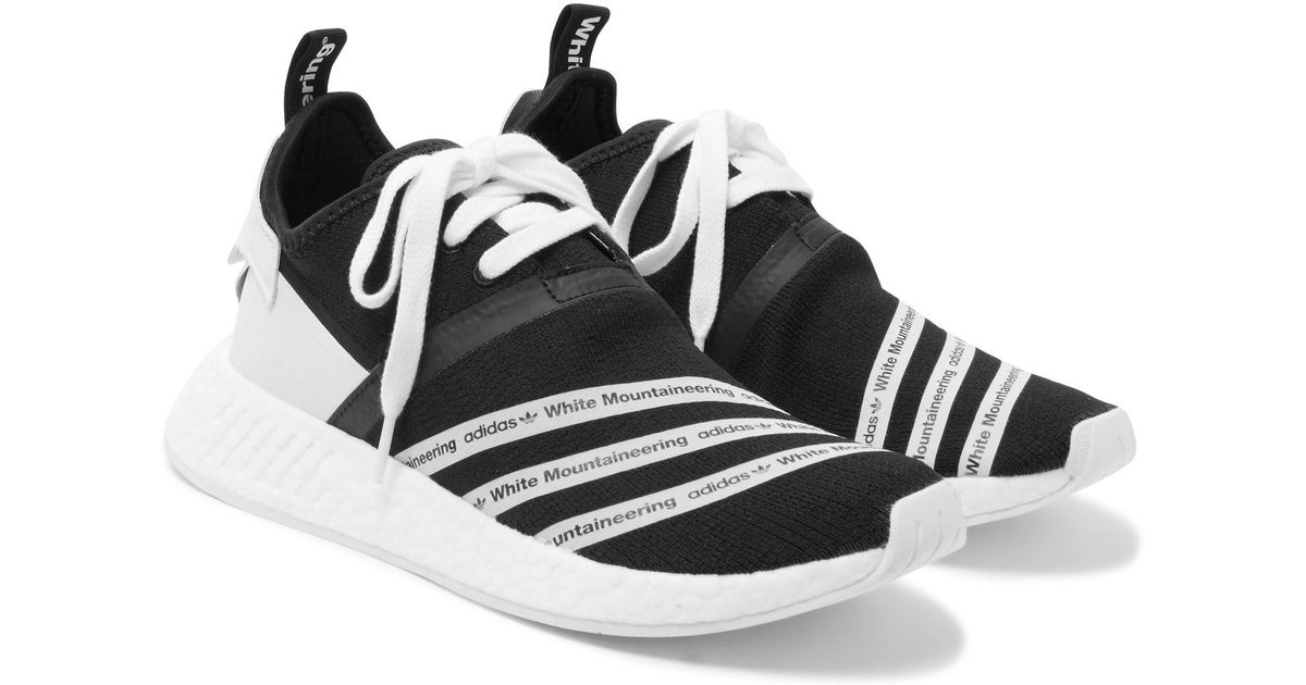c2ba4ef5c adidas Originals + White Mountaineering Nmd R2 Primeknit Sneakers in Black  for Men - Lyst