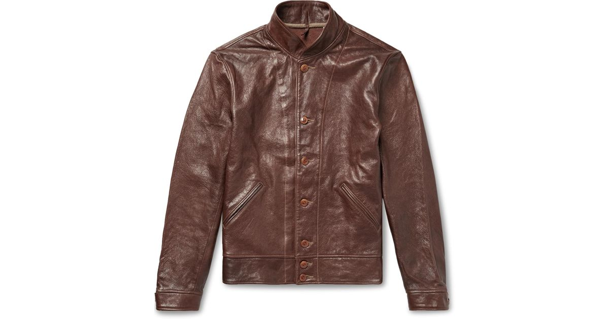 Levi S Menlo Leather Cossack Jacket In Brown For Men Lyst