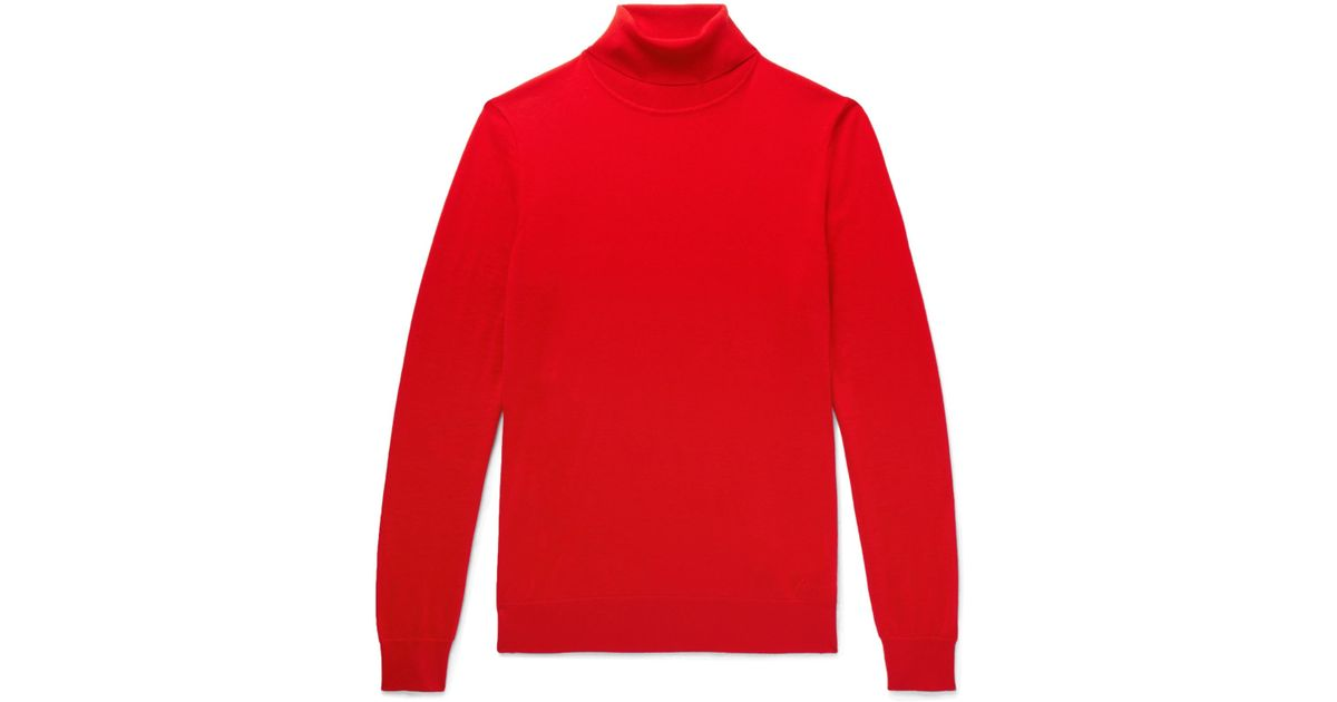 In Cashmere Lyst Rollneck Red Sweater For Brioni Men qHPdtwP