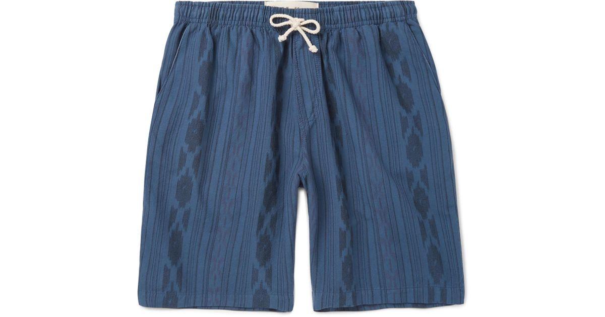 Ikat-print Cotton Drawstring Shorts Mollusk Aaa Quality Clearance Shop Offer Fake Cheap Online pm4QNnN