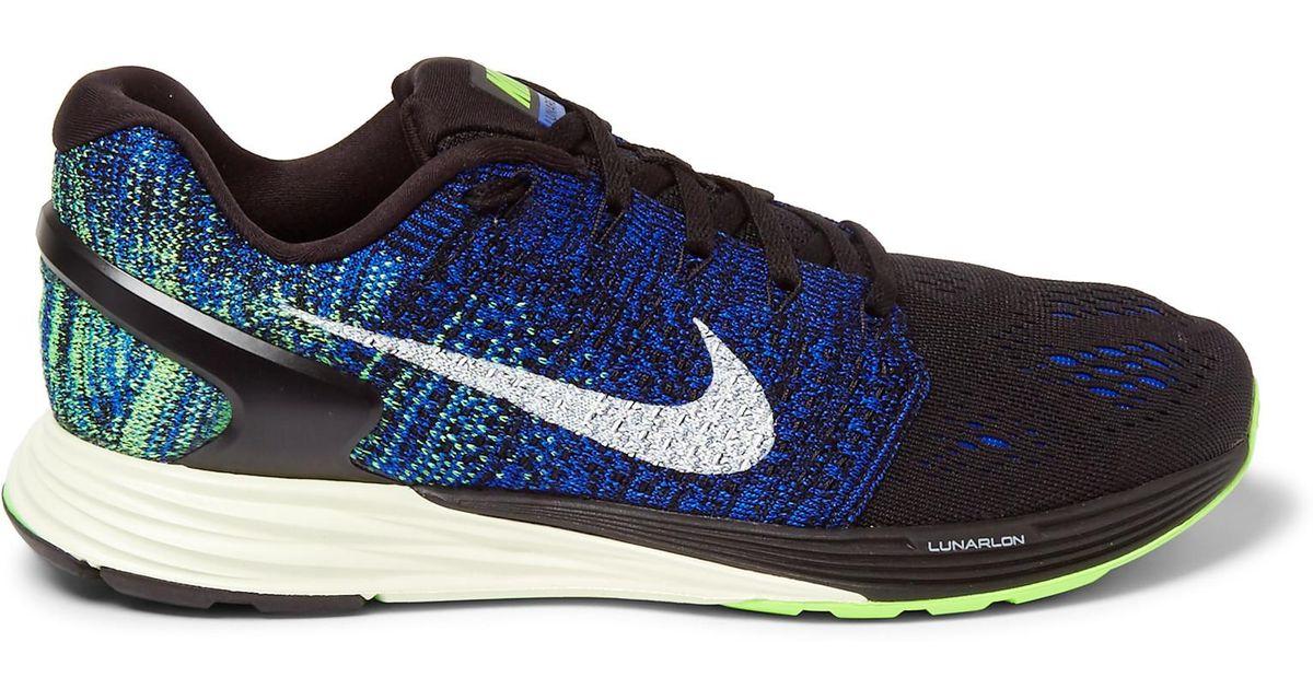 new arrival 494ca d515f Nike - Blue Lunarglide 7 Flyknit Sneakers for Men - Lyst