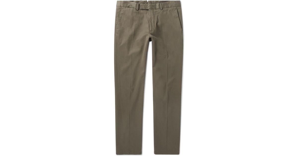 Ralph Lauren Purple Label White Eaton Slim Fit Cotton Dress Pants New $495