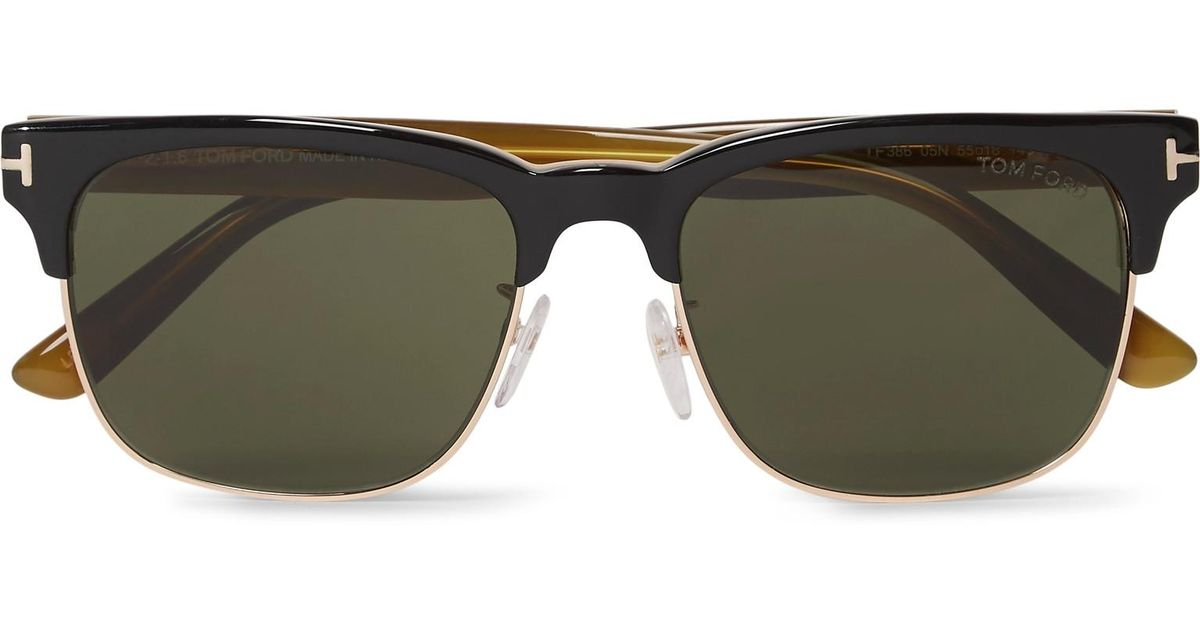 07b732be54a Lyst - Tom Ford Louis D-frame Rose Gold-tone And Acetate Sunglasses in Black  for Men