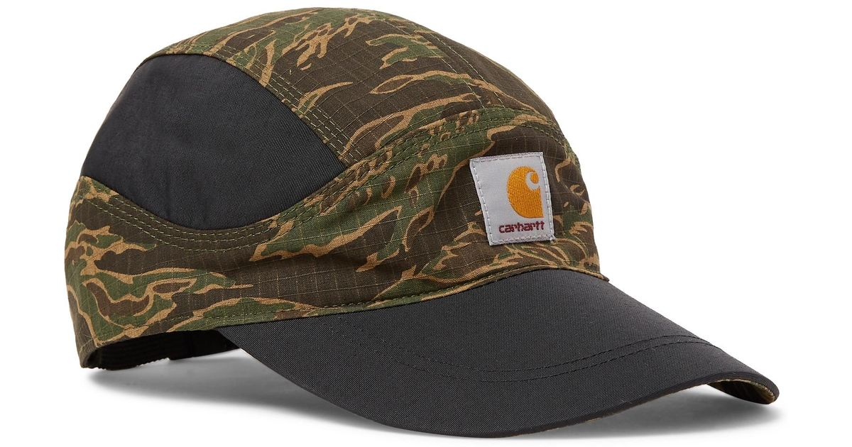 766bf5e933c89e Nike + Carhartt Tailwind Camouflage-print Cotton-ripstop And Nylon Baseball  Cap in Green for Men - Lyst