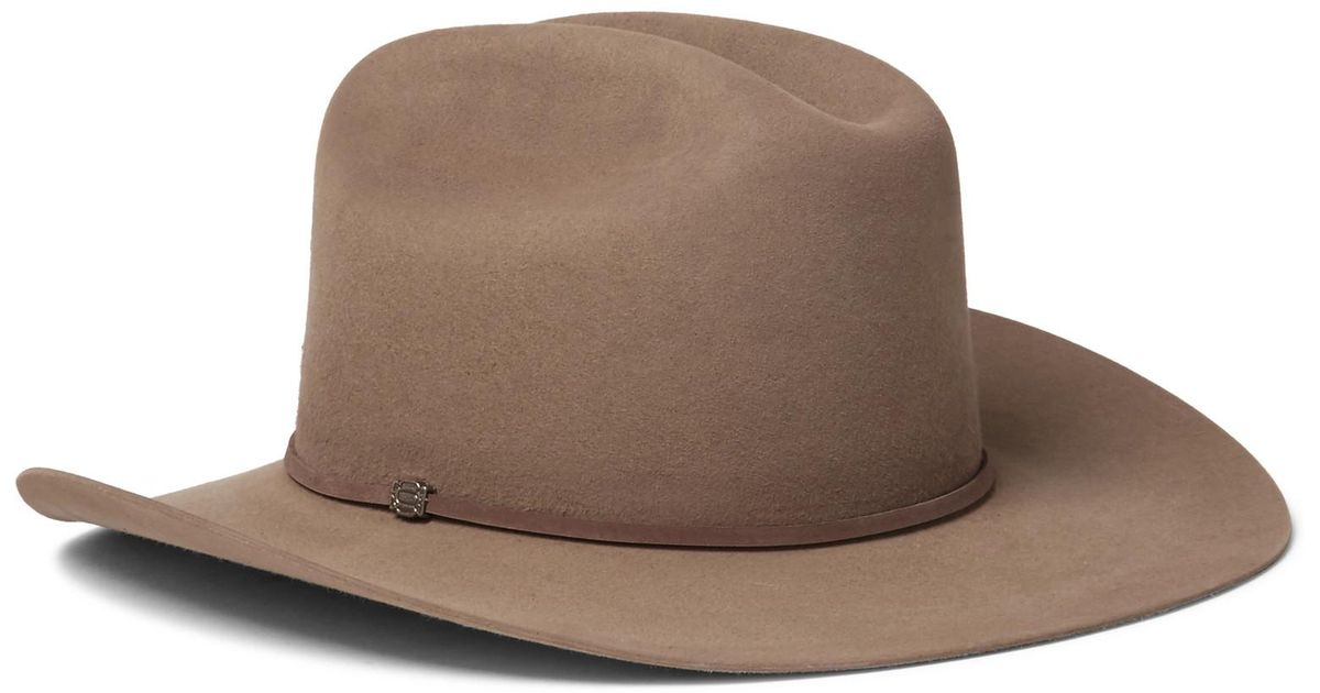 6befb7917042b Kingsman Stetson Tequila s Statesman Leather-trimmed Felt Hat in Brown for  Men - Lyst