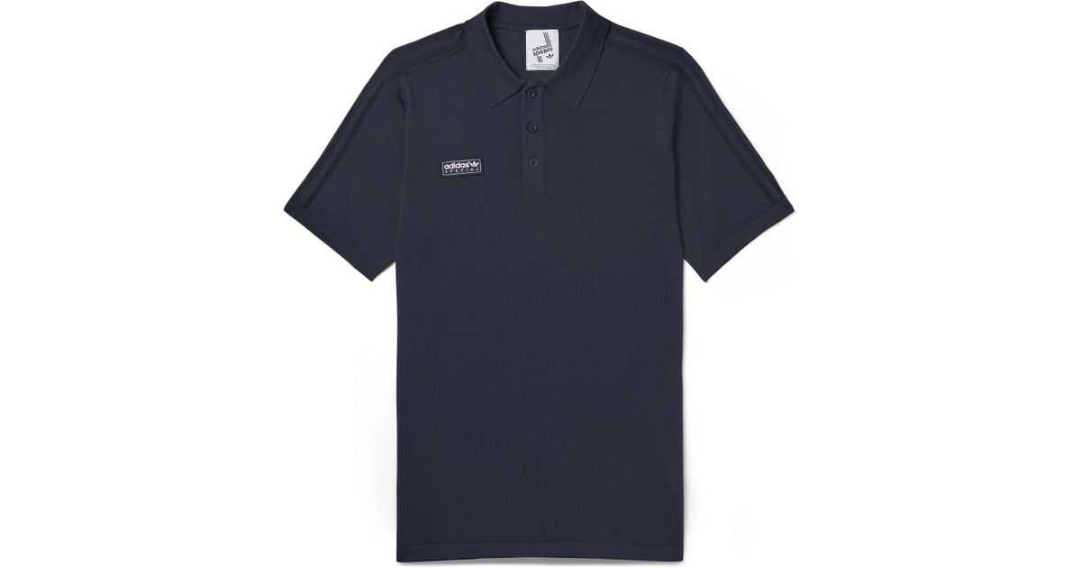 adidas knit polo shirt