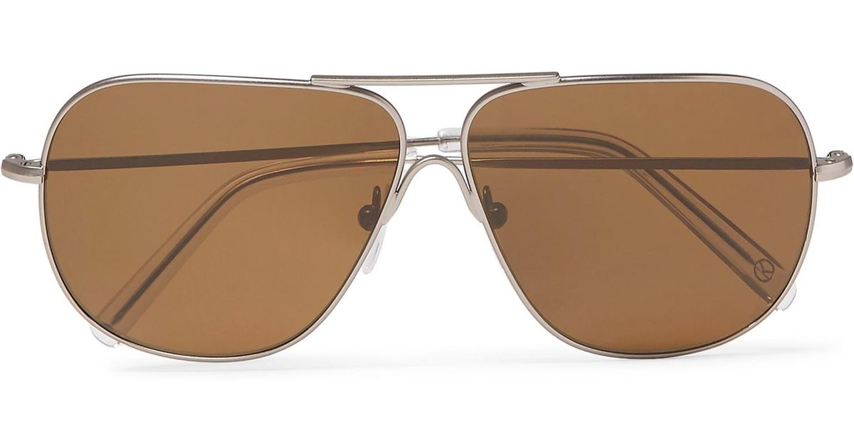 88f8486a9d Lyst - Kingsman Cutler And Gross Statesman Aviator-style Gunmetal-tone  Sunglasses for Men