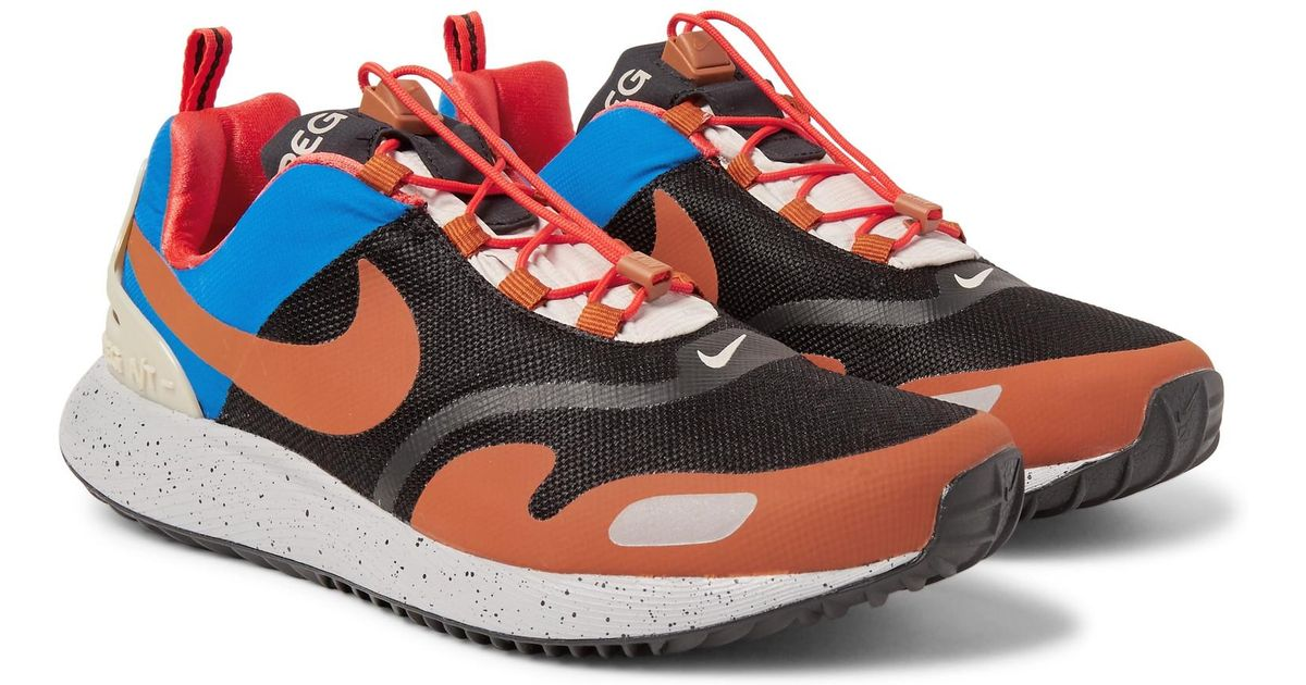 sports shoes 76128 625d6 Lyst - Nike Air Pegasus At Ripstop And Mesh Sneakers in Blac