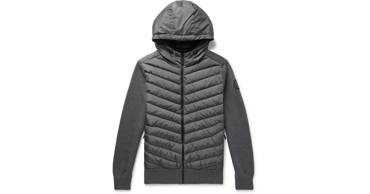 Merino For Hoodie And Hybridge Zip Down Goose Men In Wool Canada Jacket Up Lyst Gray Shell Quilted qw6ESFfg