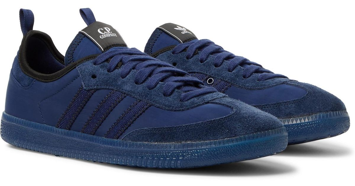 newest 79370 347c8 Adidas Originals Blue C.p. Company Samba Suede-trimmed Nylon Sneakers for  men