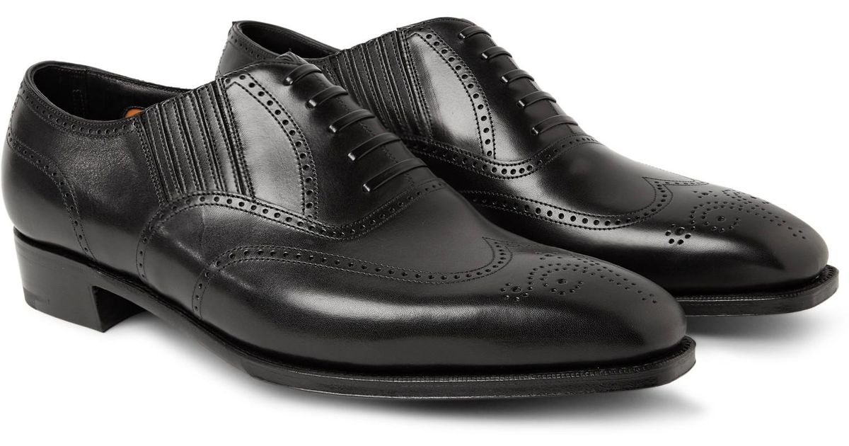 fa9a98ff3b187 George Cleverley Anthony Churchill Leather Oxford Brogues in Black for Men  - Lyst