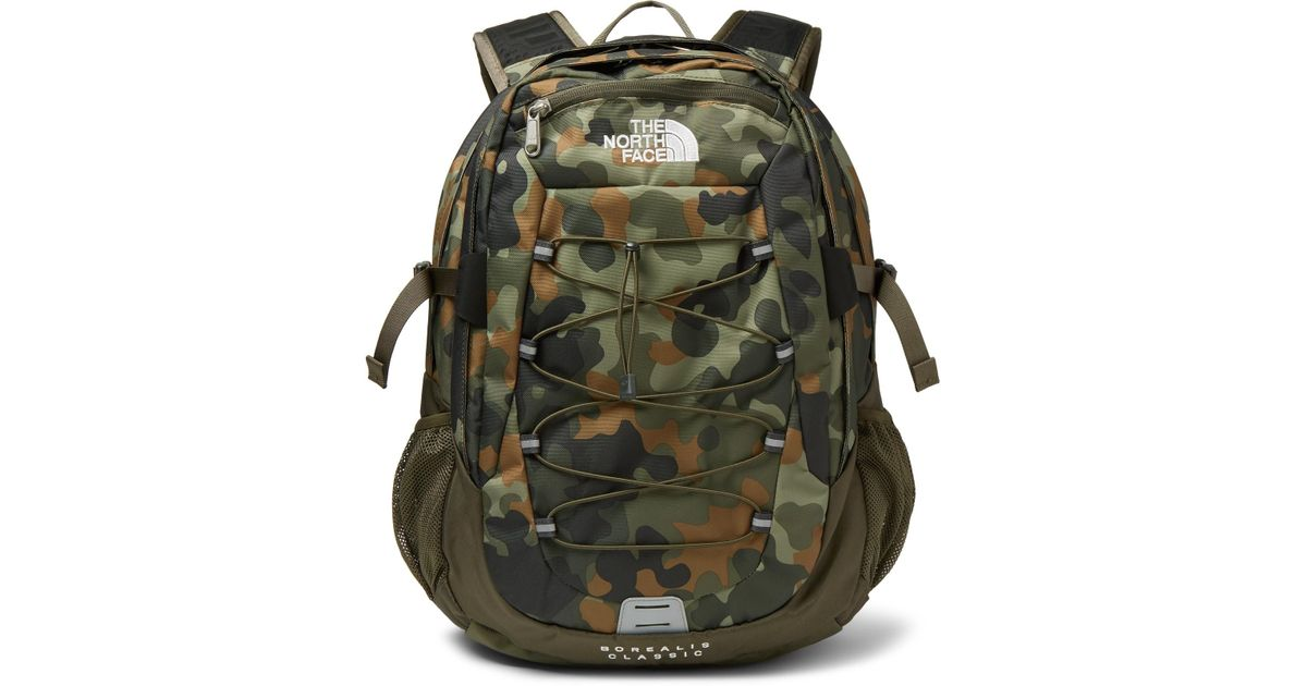 129430c7f2 The North Face Borealis Camouflage-print Canvas Backpack in Green for Men -  Lyst