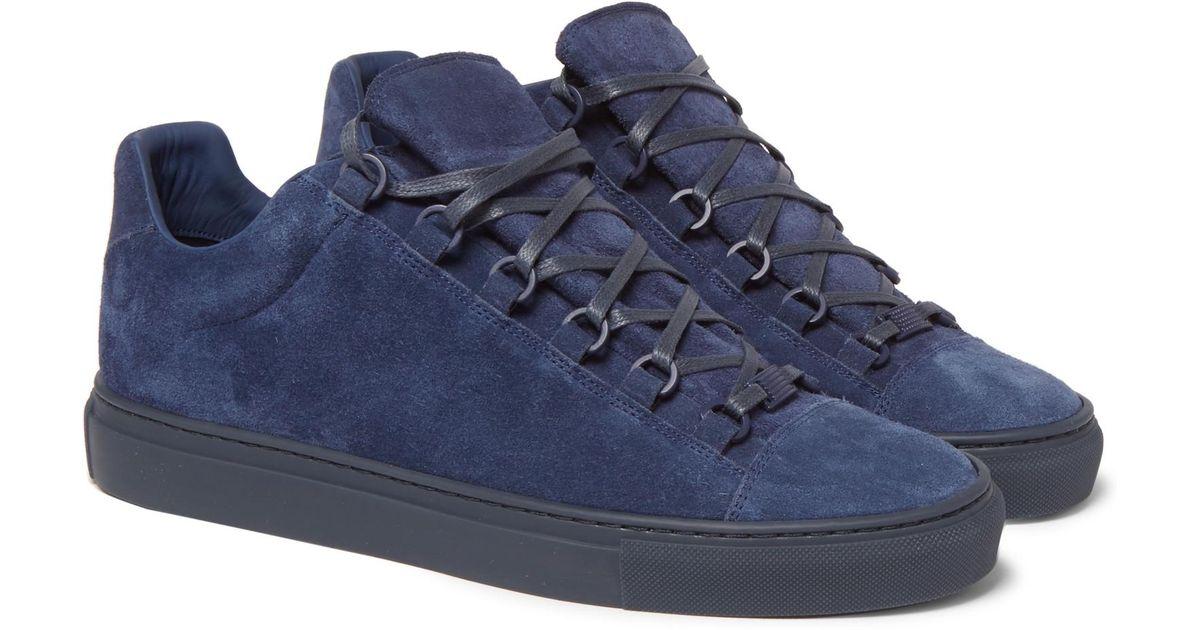 584bb98515e48 Lyst - Balenciaga Arena Suede Sneakers in Blue for Men