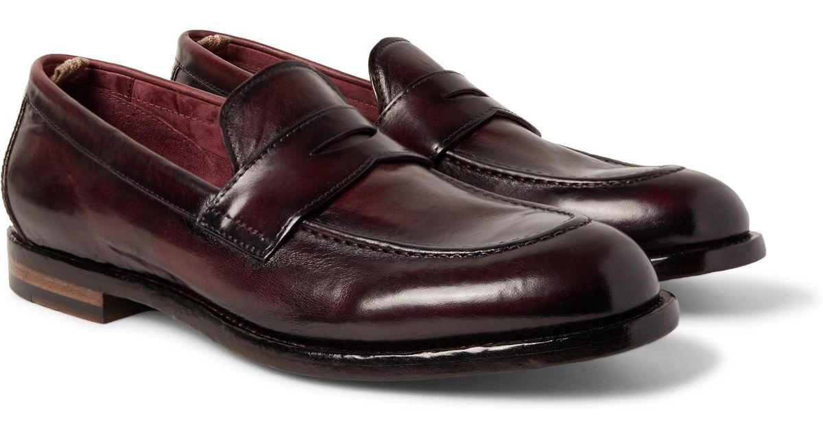 54d09322ff4 Lyst - Officine Creative Ivy Polished-leather Penny Loafers for Men