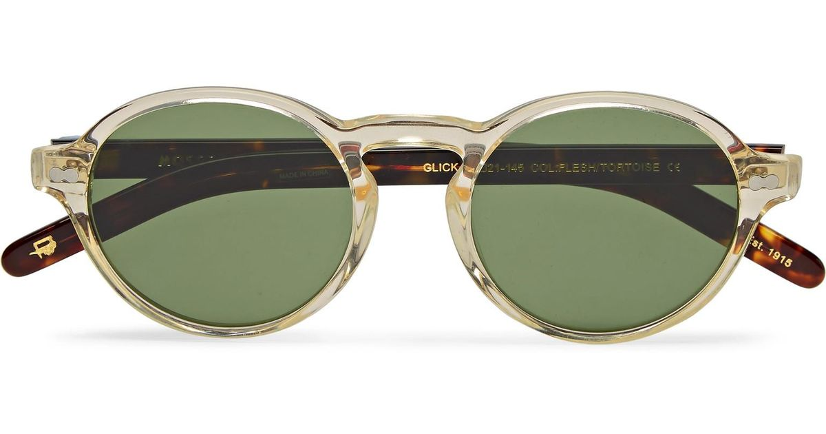 df0aaa6556fa2 Moscot Glick Round-frame Tortoiseshell Acetate Sunglasses in Brown for Men  - Lyst