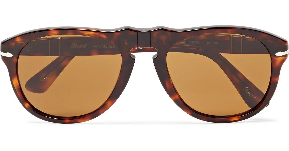 92688dfebf8c5 Persol Aviator-style Tortoiseshell Acetate Sunglasses in Brown for Men -  Lyst