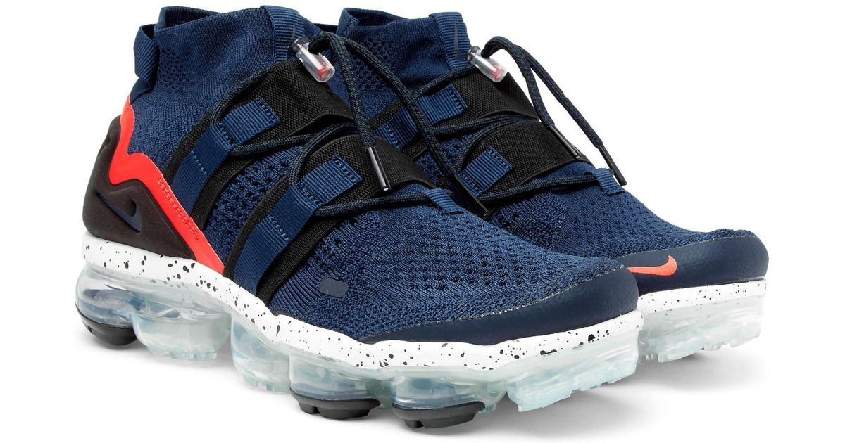 check out f5cc0 c526c Nike Blue Lab Air Vapormax Flyknit Utility Sneakers for men