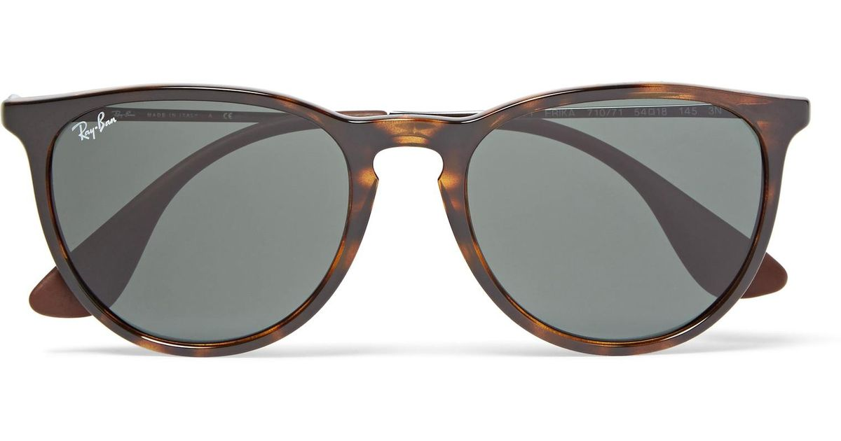 bb9d0d7632 Ray-Ban Erika Round-frame Tortoiseshell Acetate Sunglasses in Brown for Men  - Lyst