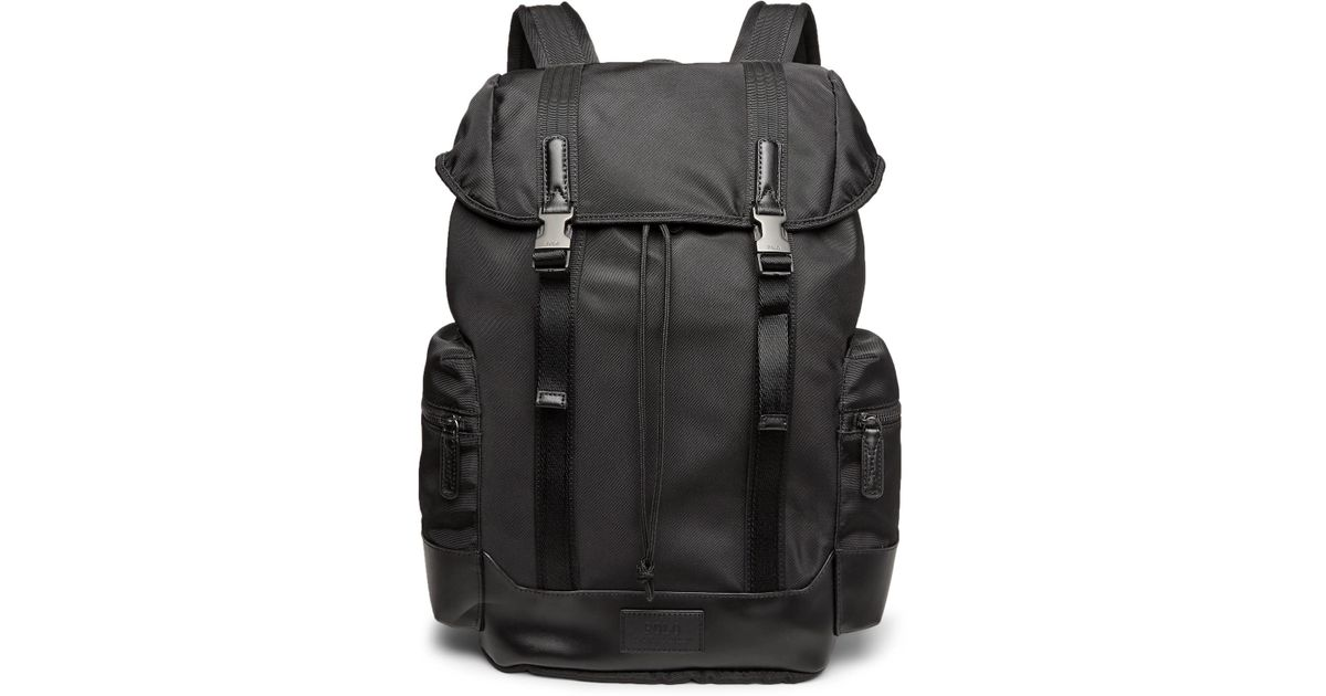 047cceb414 Polo Ralph Lauren Leather-trimmed Ripstop Backpack in Black for Men - Lyst