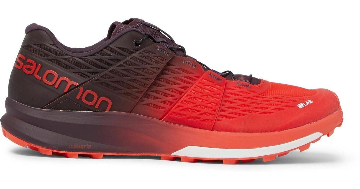 uk availability 6db6d 7bb1d Yves Salomon Red S/lab Sense Ultra 2 Trail Running Sneakers for men