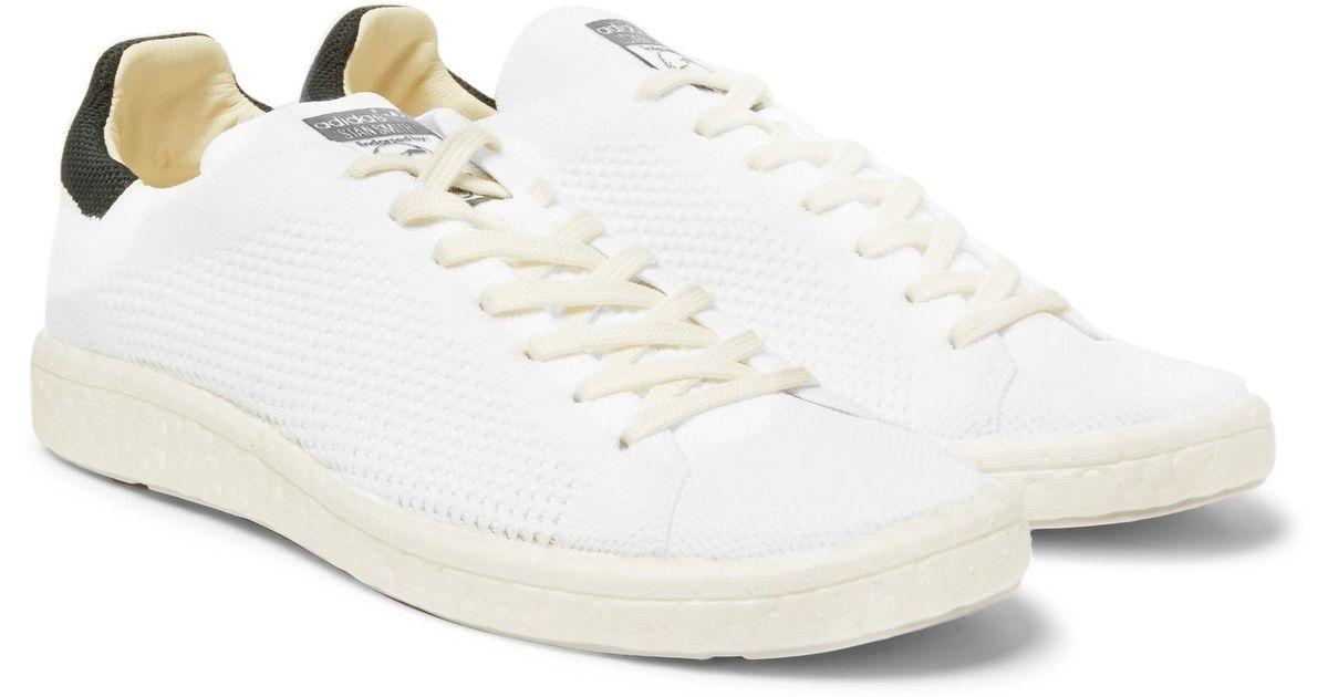 size 40 ce0f6 b91fc Adidas Originals White Stan Smith Boost Primeknit Sneakers for men