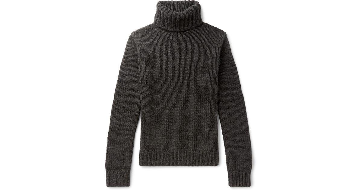 Ralph Label Gray In For Lyst Rollneck Cashmere Sweater Men Lauren Purple  PSrpPO 87ce64883830