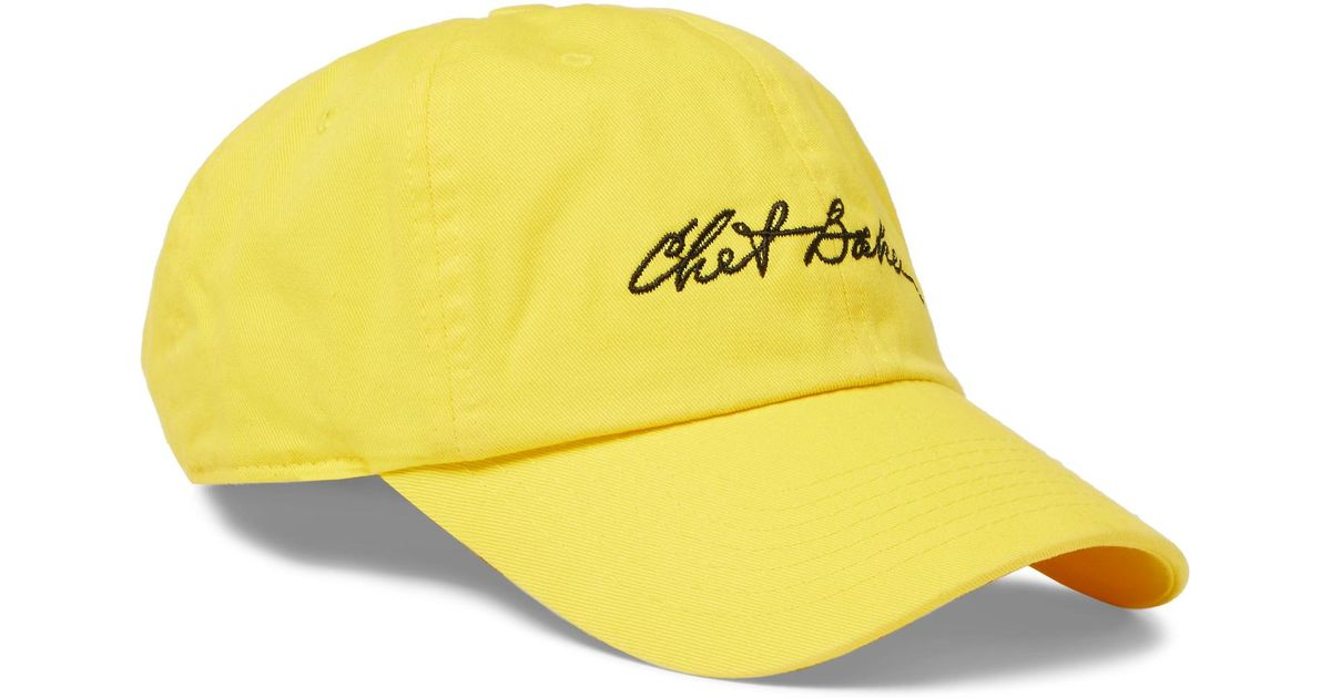 3981364e4 Noon Goons Yellow + Chet Baker Embroidered Cotton-twill Baseball Cap for men