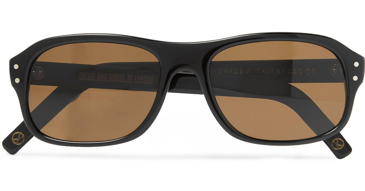 79c4f8d0dbe Lyst - Kingsman + Cutler And Gross Eggsy s Square-frame Acetate Sunglasses  in Black for Men