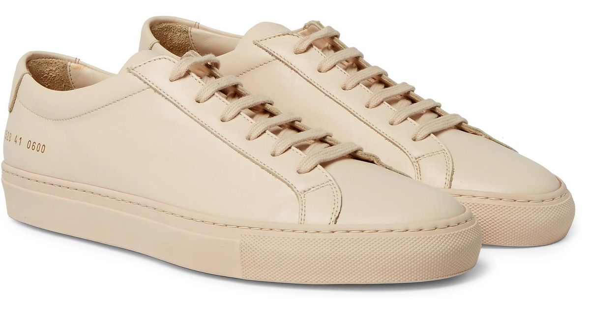 6efd5eb35f7f Lyst - Common Projects Original Achilles Leather Sneakers in Natural for Men