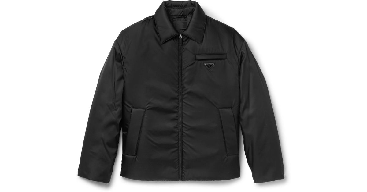 cede98a47d Prada Black Padded Gabardine Jacket for men