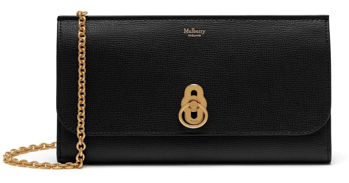 9fef8ea1f Mulberry Amberley Clutch In Black Cross Grain Leather in Black - Save 3% -  Lyst