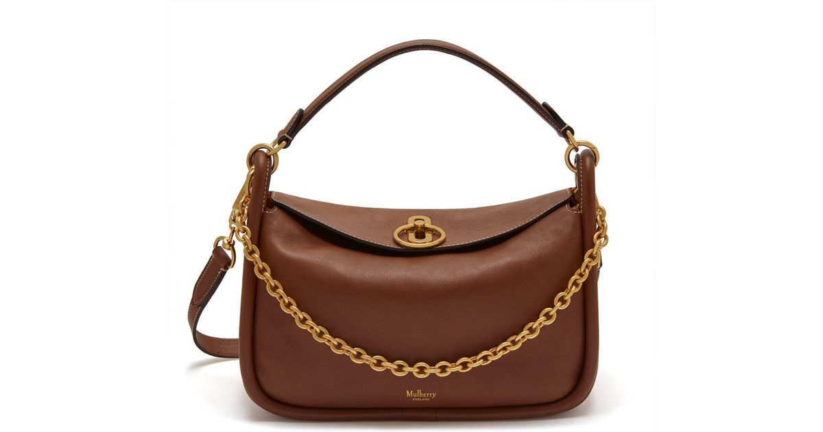 info for cute cheap latest fashion Mulberry Brown Small Leighton In Tan Silky Calf