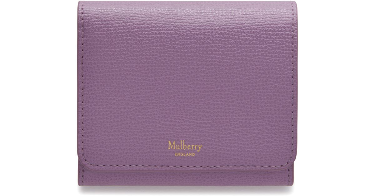 d867d5c99d Mulberry Small Continental French Purse in Purple - Lyst