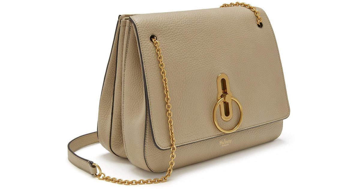 90c3e6ccf05e Mulberry Marloes Satchel In Light Dune Classic Grainy Calf - Lyst