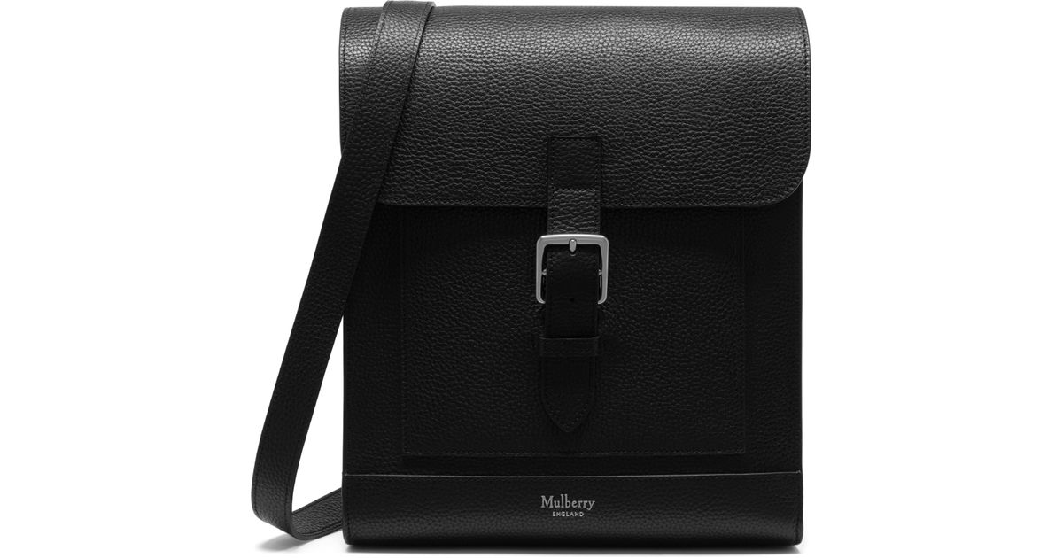 4def8fbe7b849 ... netherlands mulberry chiltern small messenger in black for men lyst  85224 65bb0