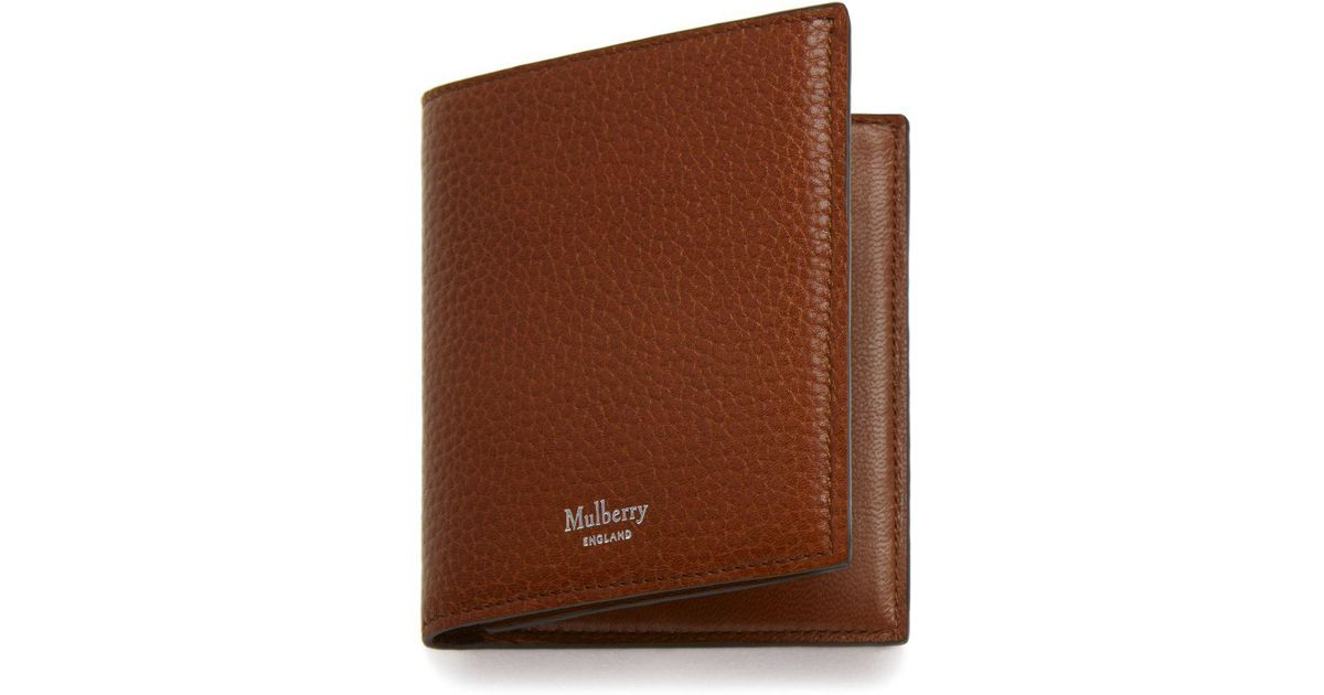 b525a85353237 Lyst - Mulberry Trifold Wallet In Oak Natural Grain Leather for Men