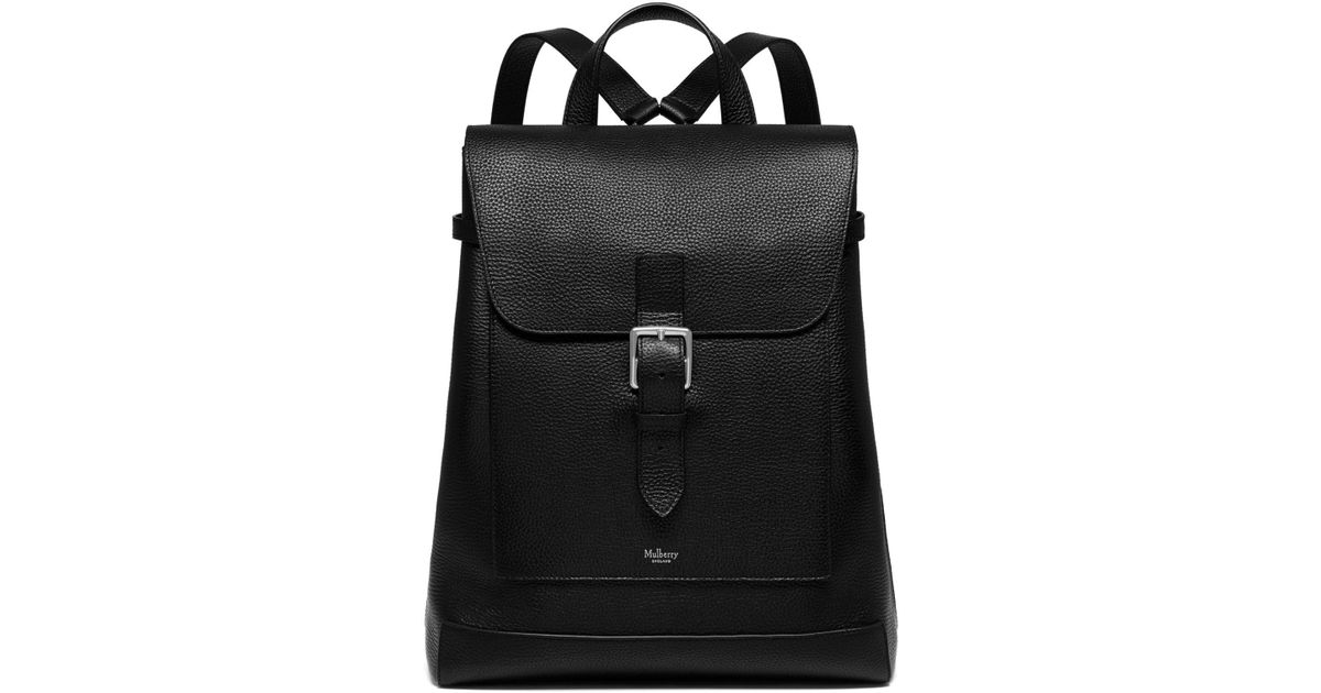ecbc5bc332 Lyst - Mulberry Chiltern Backpack In Black Natural Grain Leather in Black  for Men