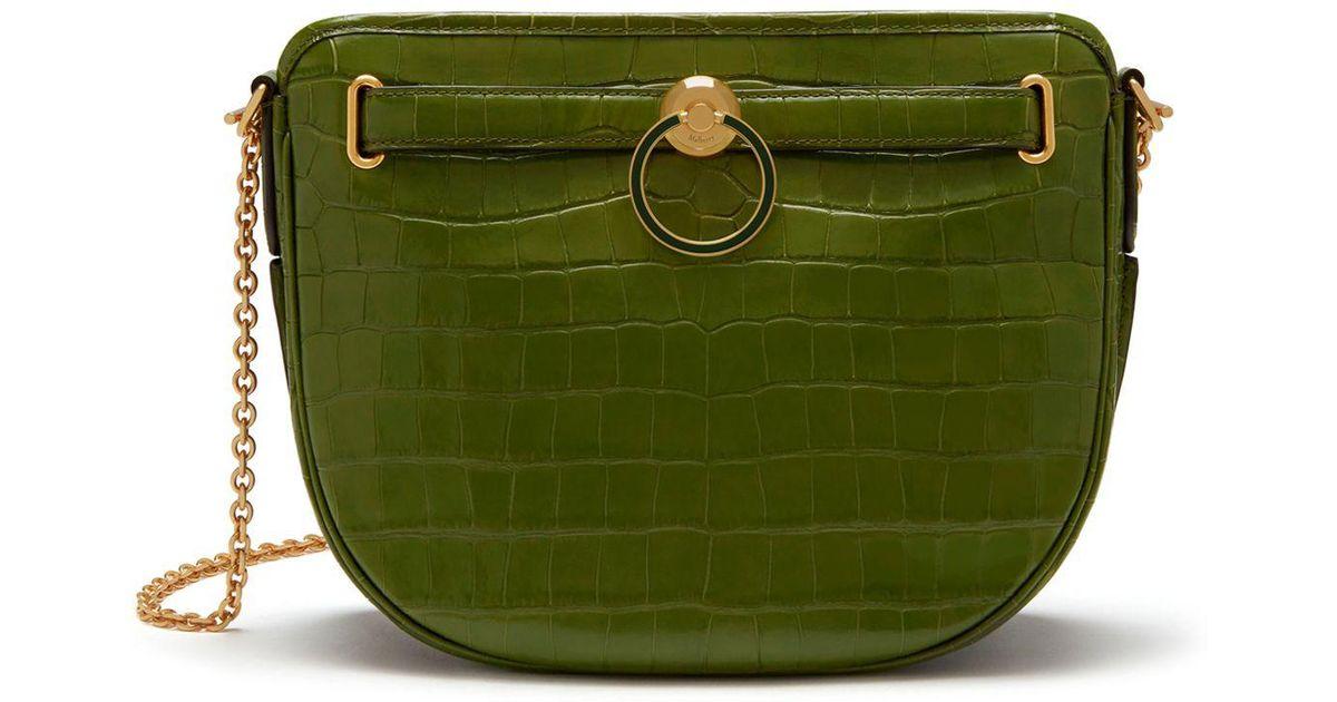 85e75feacc93 Mulberry - Green Brockwell In Dark Olive Croc Print - Lyst