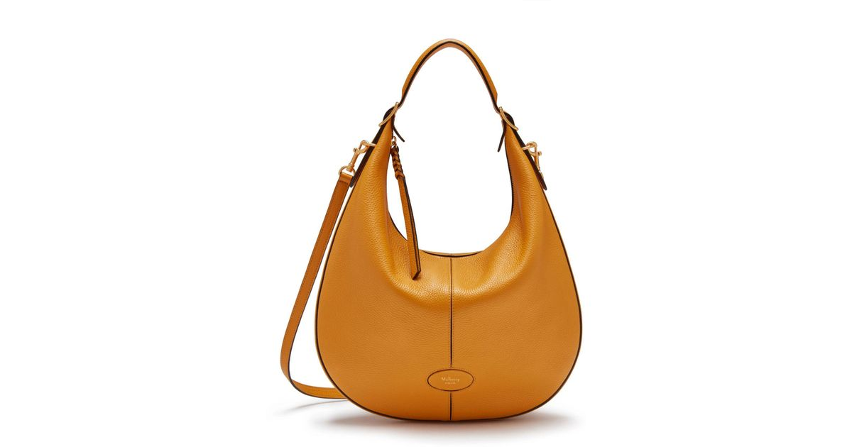 Lyst - Mulberry Small Selby In Deep Amber Small Classic Grain in Orange 9fea7f0277053
