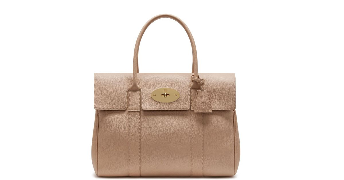 Lyst - Mulberry Heritage Bayswater In Rosewater Small Classic Grain 9097e030a1
