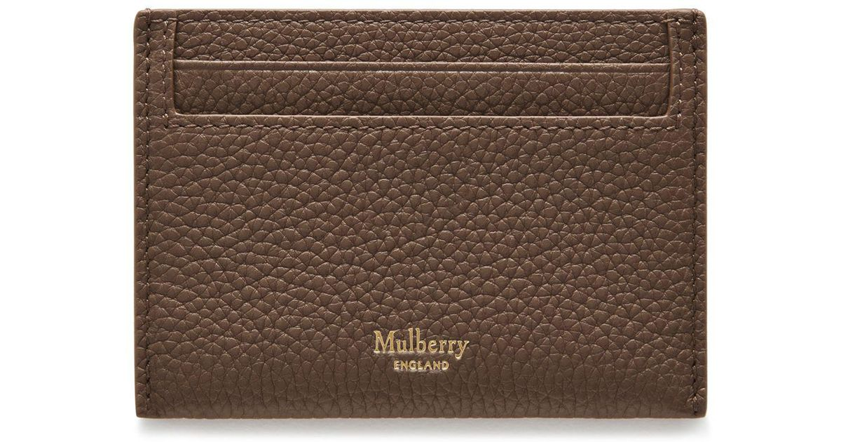 bf5b98b86a52a Lyst - Mulberry Credit Card Slip In Clay Small Classic Grain