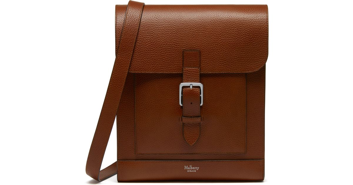 ... bag satchel d1d18 3606a  promo code mulberry chiltern messenger in brown  for men lyst 520fb 17b07 972b51009e0ec