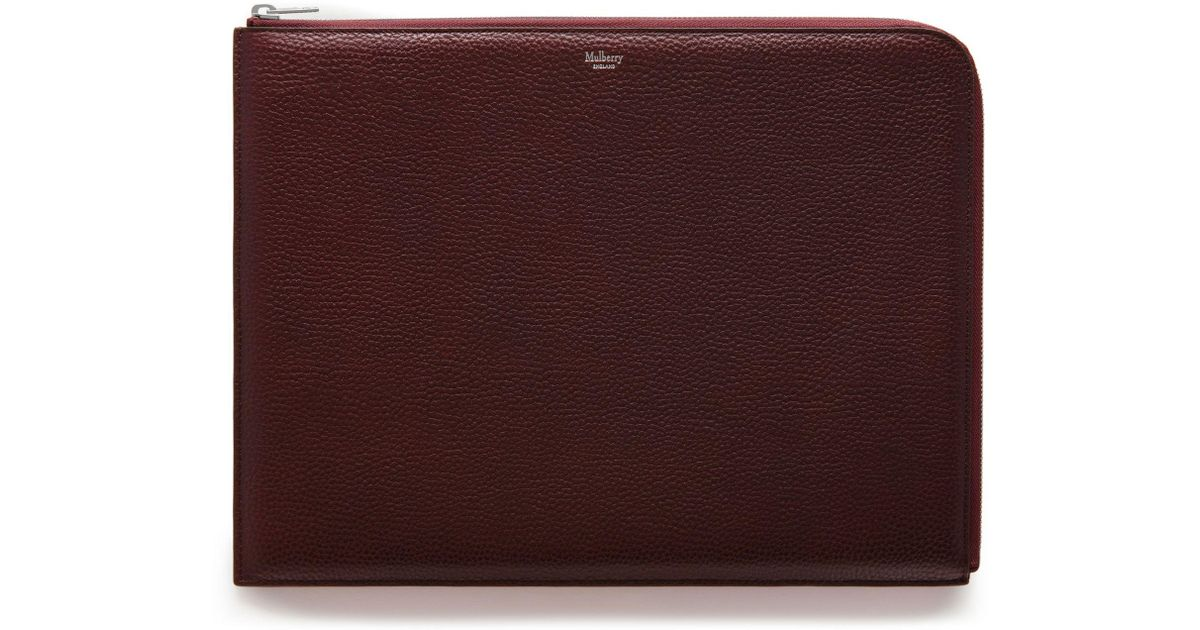best loved buying new popular brand Mulberry Large Tech Pouch In Oxblood Natural Grain Leather for Men ...