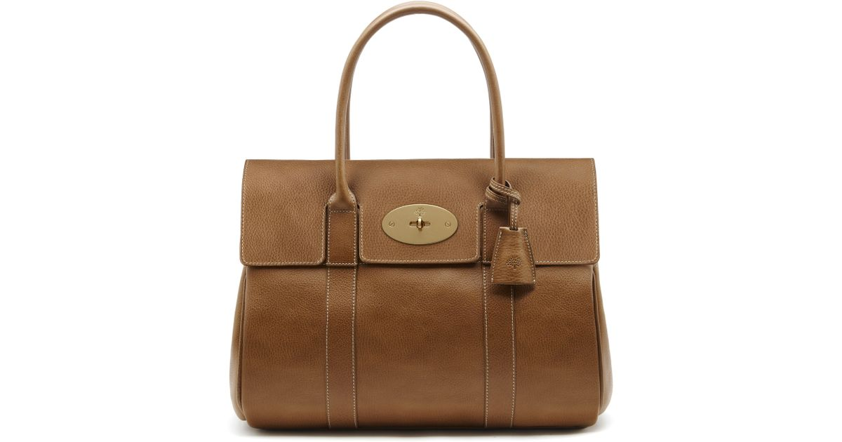 defa6427f31 uk bayswater classics women mulberry 9bd63 b1429  amazon lyst mulberry  bayswater leather bag in brown 80581 80849
