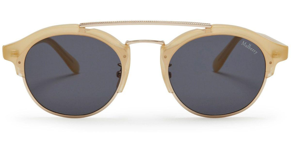 f0972429a306 Mulberry Enyd Sunglasses In Maize Yellow Acetate And Metal in Gray - Lyst