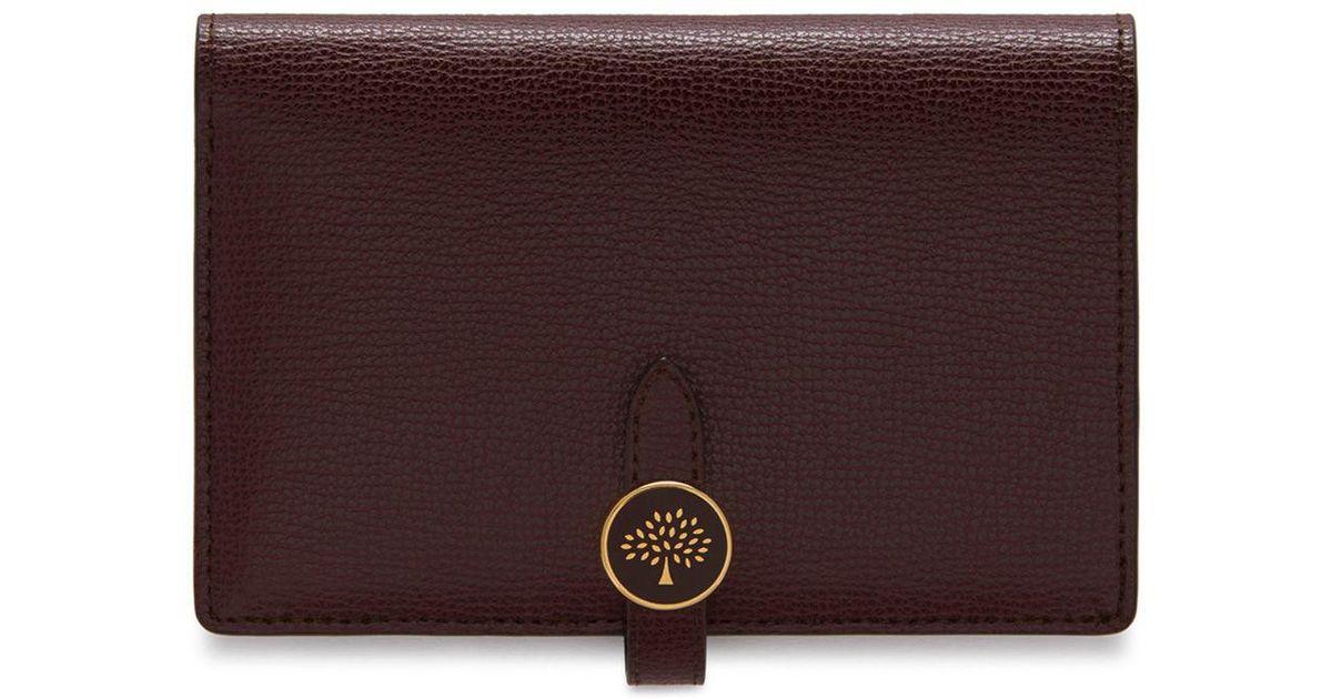 148bc1d59b Mulberry Tree Medium Wallet In Oxblood Cross Grain Leather in Purple - Lyst