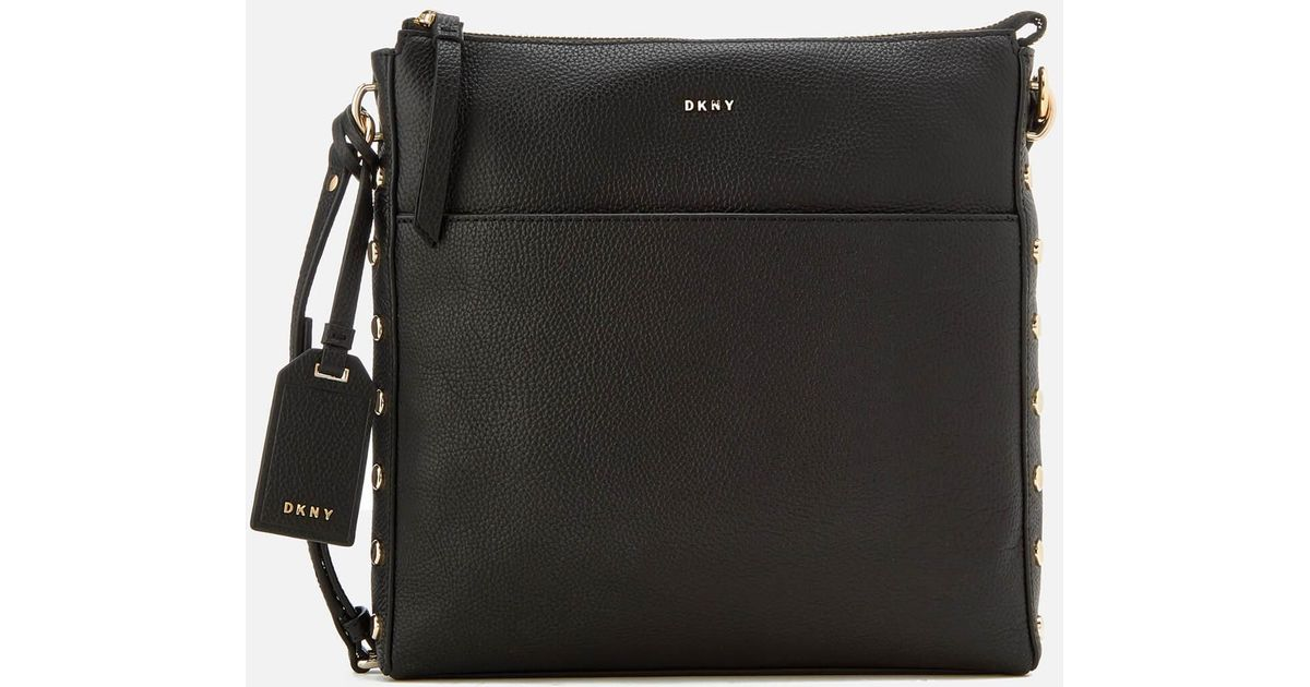 aa98bd89cab1 Lyst - DKNY Women s Chelsea Pebbled Leather Top Zip Cross Body Bag in Black